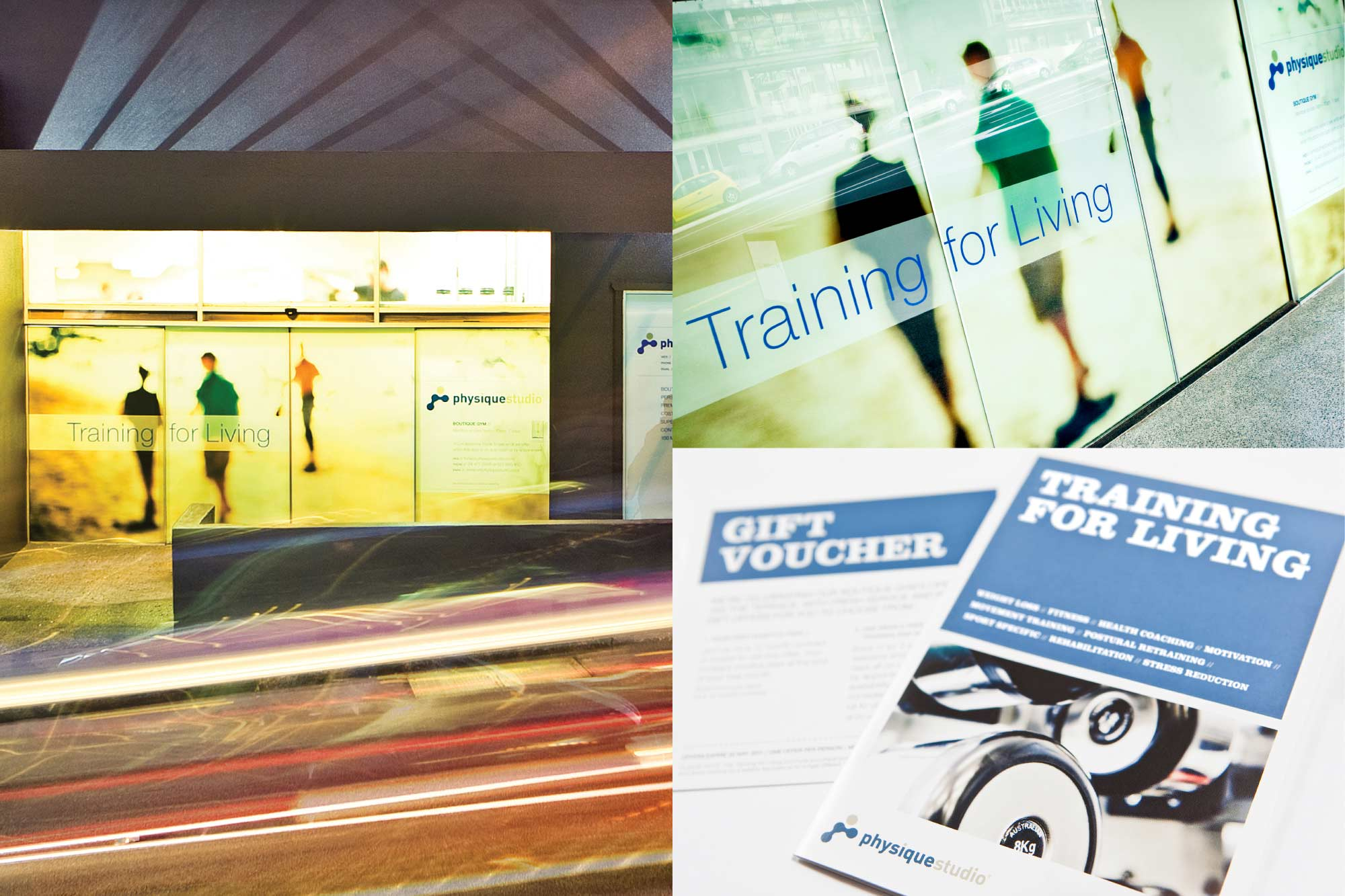 BRAND, BROCHURE AND SIGNAGE / Physique Studios