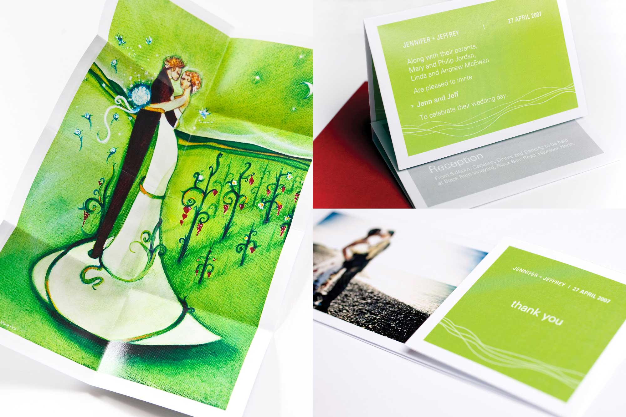 WEDDING STATIONERY / Illustrative with special folds